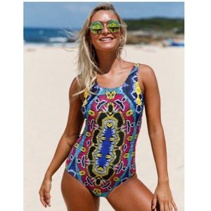 💙🎉HP🎉❗️Moroccan Print One Piece Swimsuit